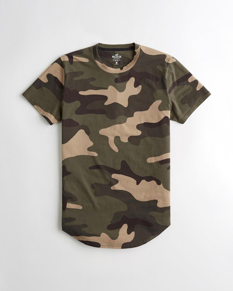 8407bff708 Chicos Camiseta con dobladillo redondeado