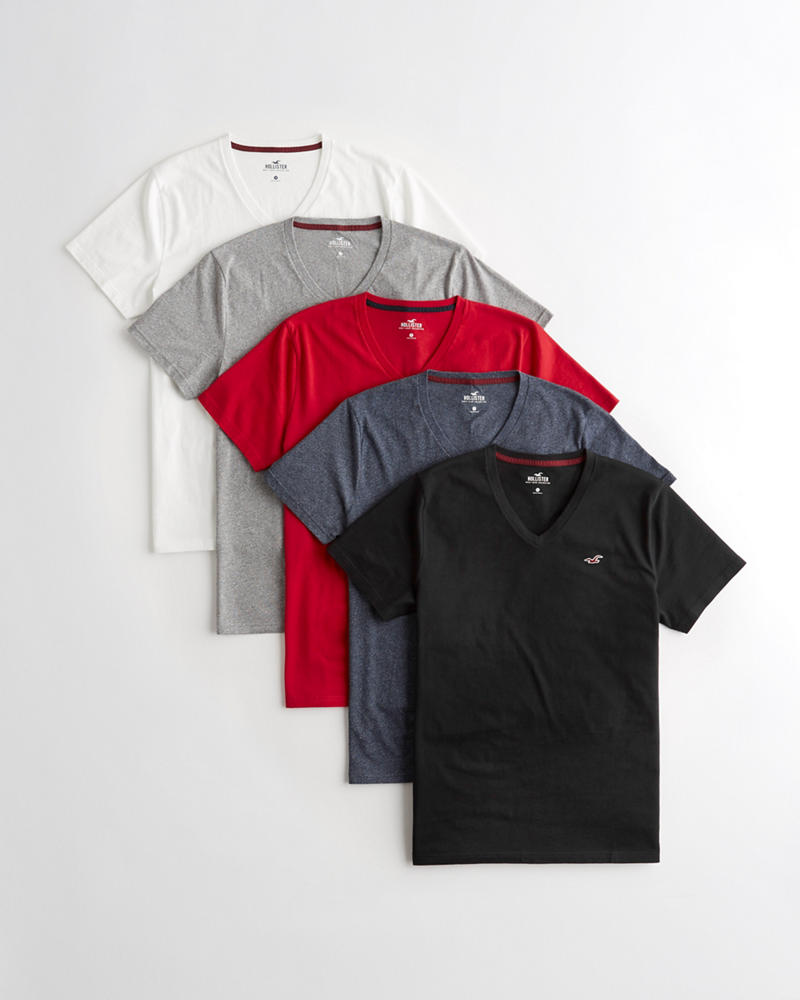 c90ff5ed1675 Guys Must-Have V-Neck T-Shirt 5-Pack | Guys Tops | HollisterCo.com