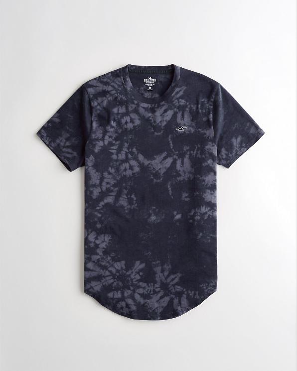 52207d9ea589c Guys Tie-Dye Curved Hem T-Shirt | Guys Sale | HollisterCo.com