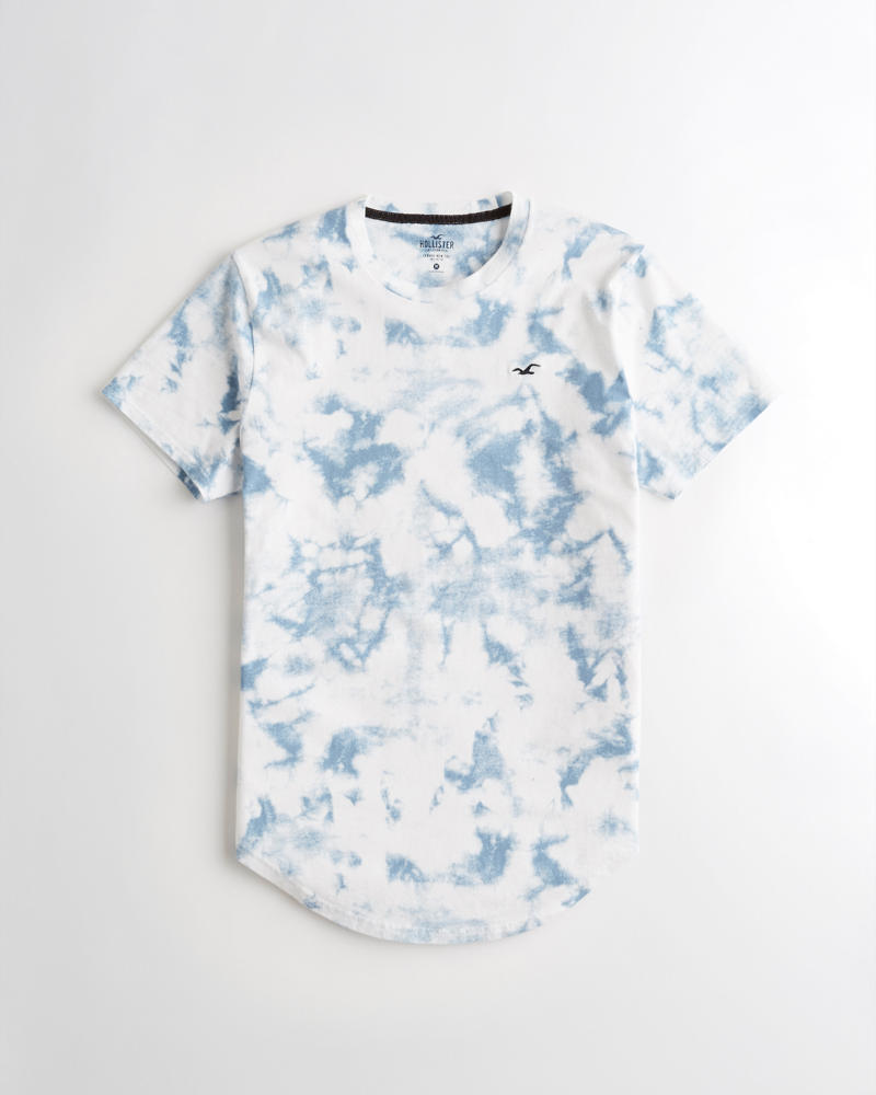 32badf169 Guys Tie-Dye Curved Hem T-Shirt | Guys Tops | HollisterCo.com