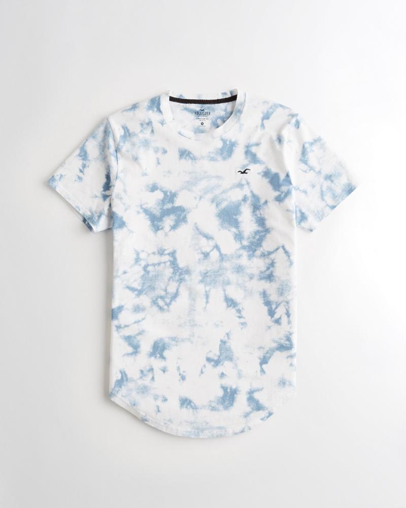 a468dd54 Guys Tie-Dye Curved Hem T-Shirt | Guys Tops | HollisterCo.com