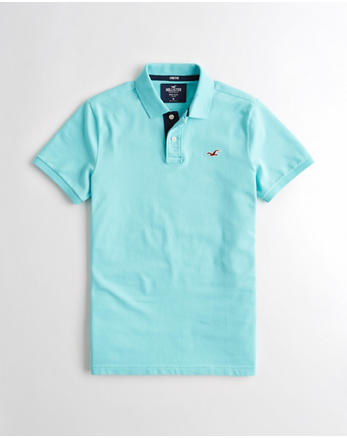 f98521ef2191 Stretch Slim Fit Polo, TURQUOISE