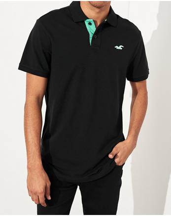 8990b719 ... BLACK Stretch Classic Fit Polo, BLACK, Alternate