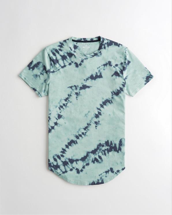 Guys Tie-Dye Curved Hem T-Shirt | Guys New Arrivals
