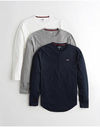 ce9655c4800b3 Lot de 3 t-shirts à manches longues indispensables, BLANC - GRIS CHINE -