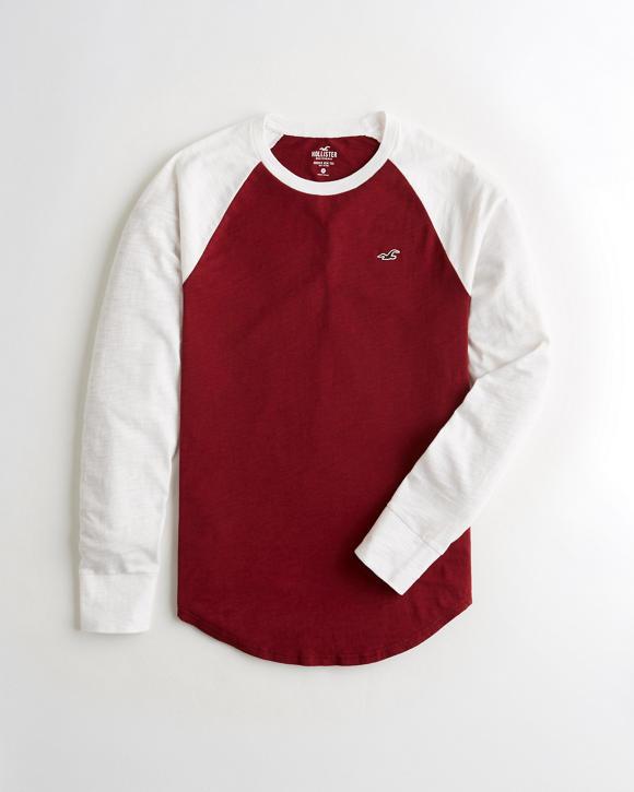 Textured Raglan T Shirt by Hollister