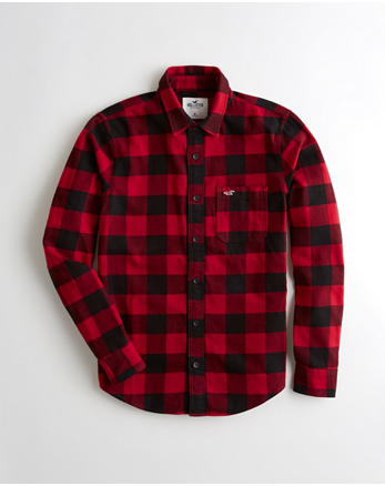 button down shirts for guys hollister co