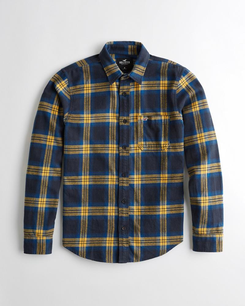 Chicos Camisa Corte Suelto Franela De Escocesa r0wxFrq