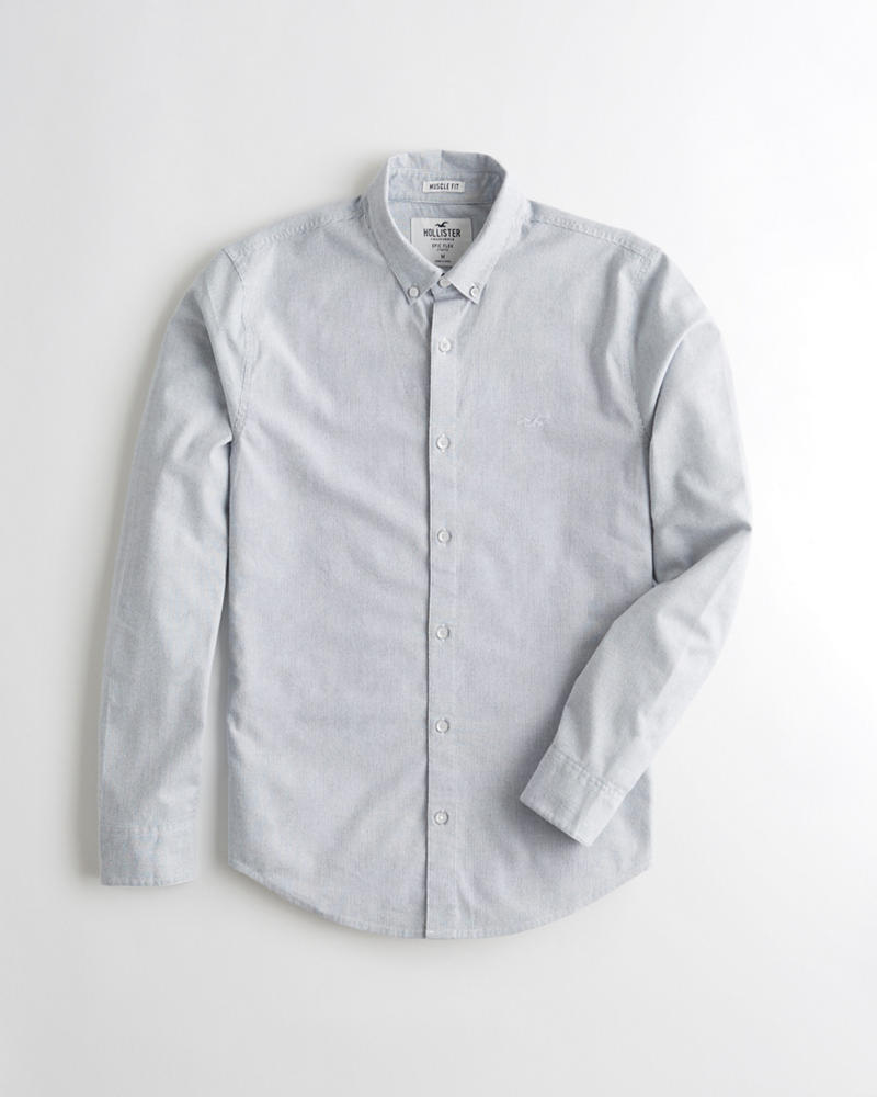 78220a0d9 Guys Oxford Muscle Fit Shirt | Guys Clearance | HollisterCo.com