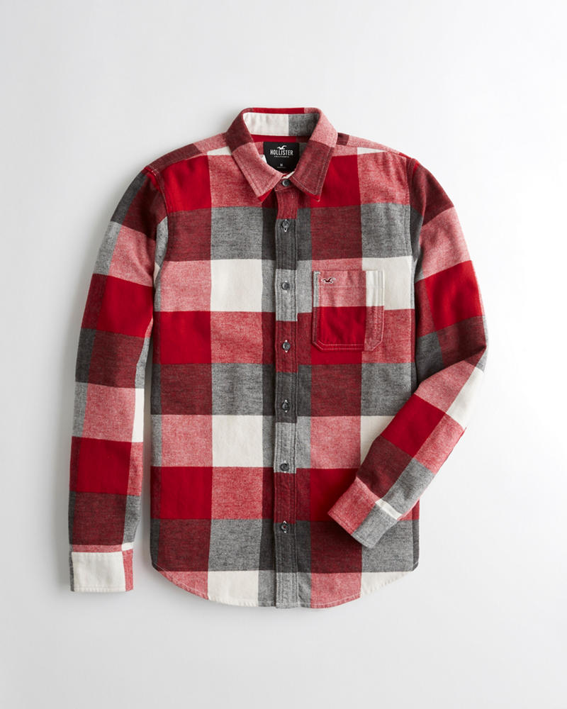 5624a06cf488 Hollister Flannel Slim Fit Shirt