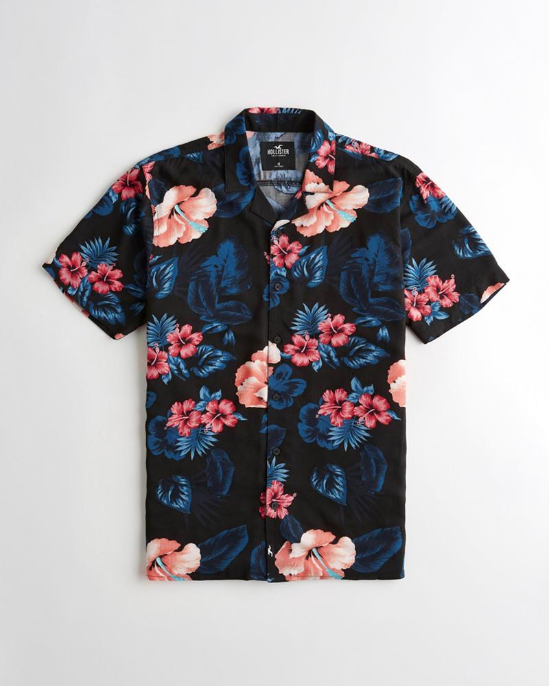 9cb6c792 Guys Short-Sleeve Hawaiian Shirt | Guys Sale | HollisterCo.com
