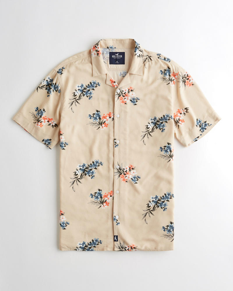 8b5803b5 Guys Short-Sleeve Pineapple Shirt | Guys Clearance | HollisterCo.com