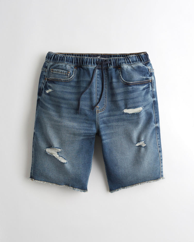 5ed4dbc58b Guys Just Like Knit Jogger Short 9 in. | Guys Bottoms | HollisterCo.com