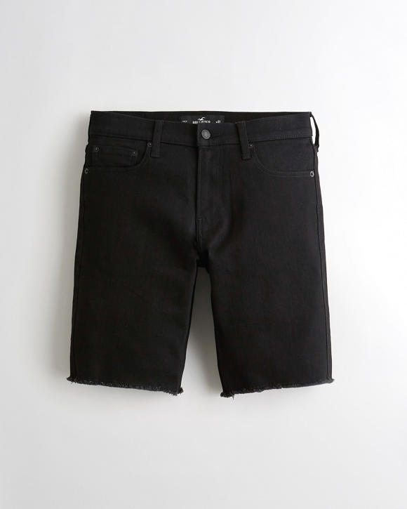 Advanced Stretch No Fade Skinny Denim Short 9 In. by Hollister