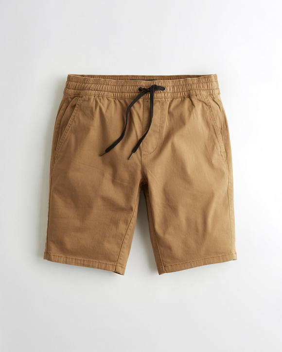 Advanced Stretch Twill Jogger Shorts by Hollister