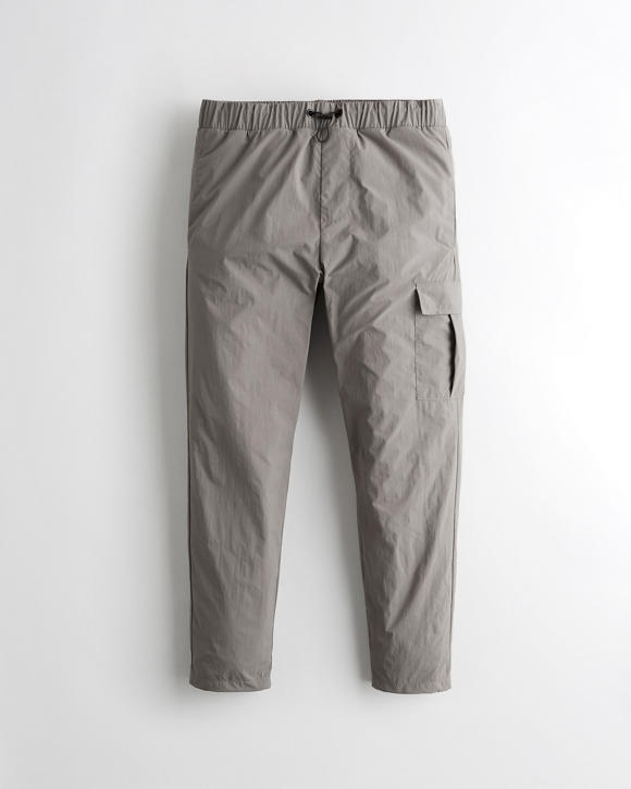 Crop Taper Nylon Pants by Hollister