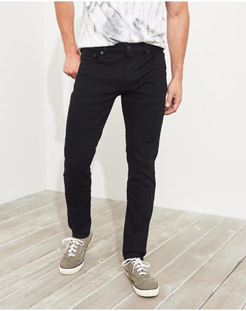 Advanced Stretch Skinny No Fade Jeans, BLACK NO FADE