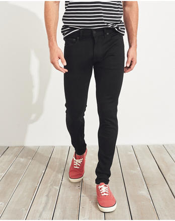 Advanced Stretch Super Skinny No Fade Jeans, NO FADE BLACK