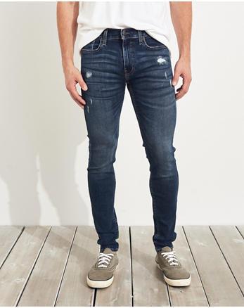 696da46f81e5 Advanced Stretch Super Skinny Jeans, RIPPED MEDIUM WASH