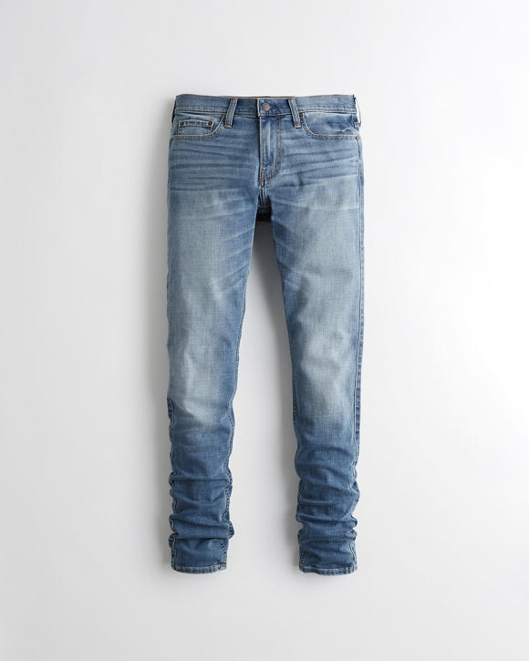Advanced Stretch Stacked Super Skinny Jeans by Hollister