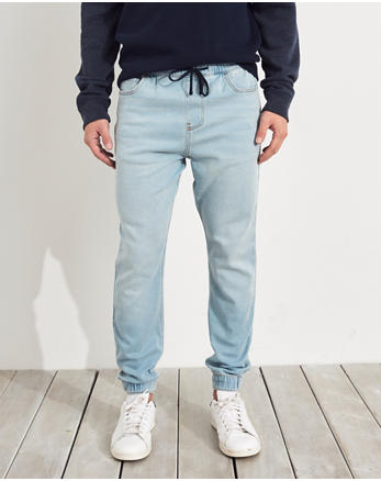 Zwarte Joggingbroek Jongens.Denim Joggingbroek Voor Jongens Hollister Co