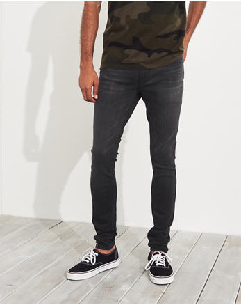 Advanced Stretch Extreme Skinny Jeans, WASHED BLACK