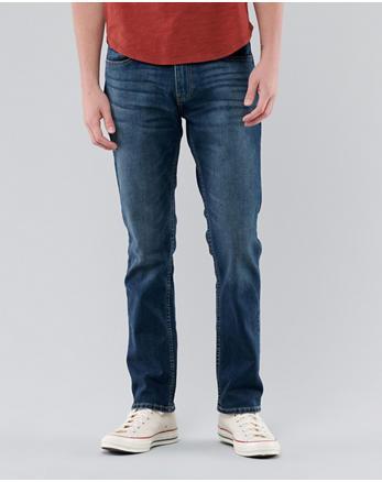 72c51ec2 Hollister Epic Flex Slim Straight Jeans, MEDIUM WASH