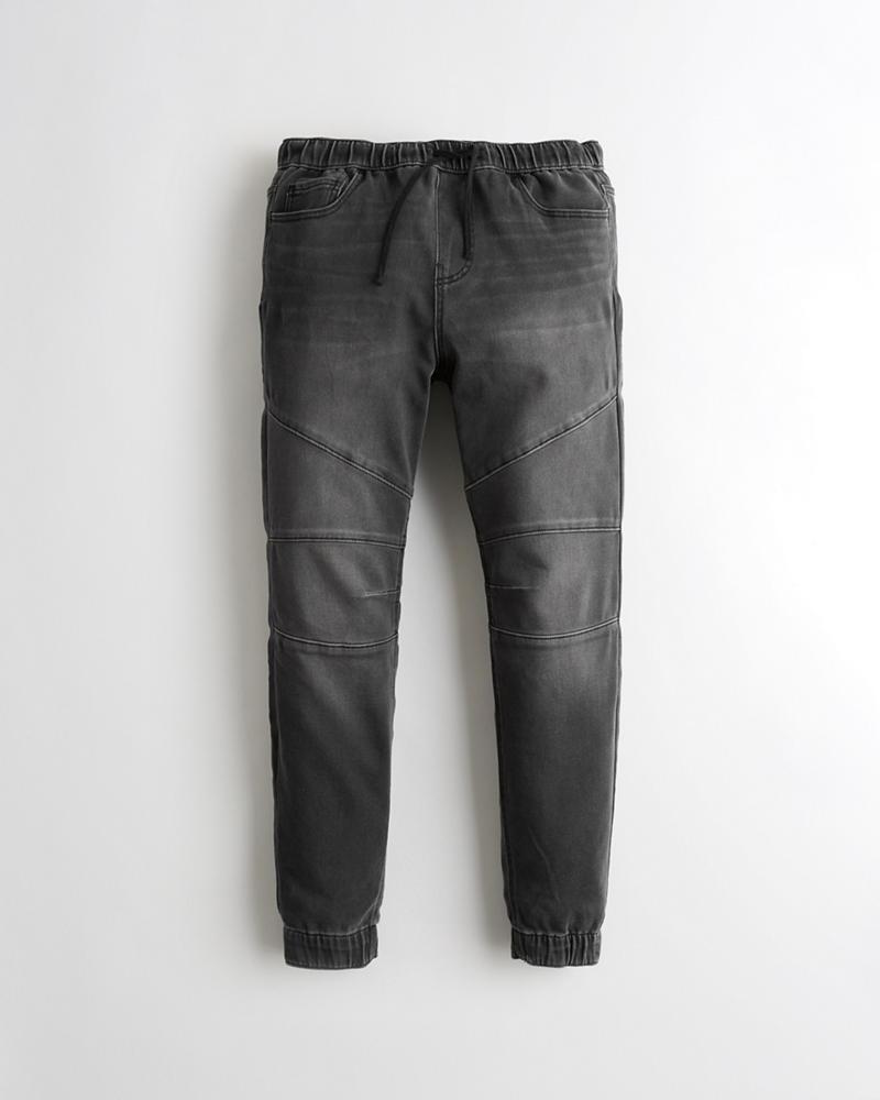 1966e140a2d Guys Just Like Knit Denim Jogger Pants | Guys Bottoms | HollisterCo.com