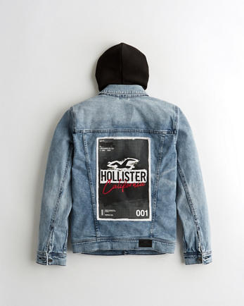 giacca di jeans hollister