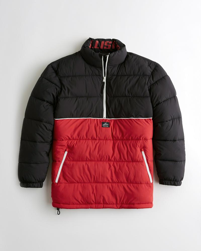 d7539d7663aa Hollister Oversized Half-Zip Puffer Jacket | Hollister Hollister x ...