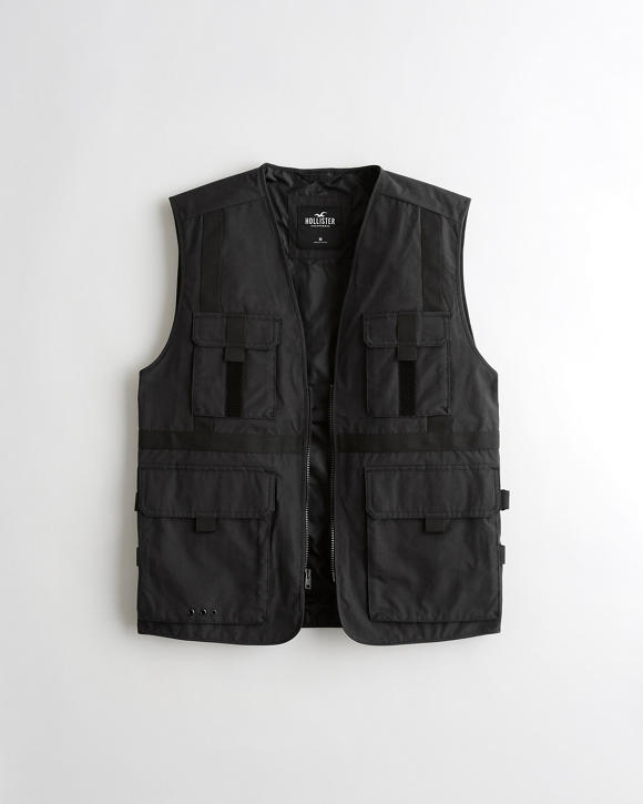 Full Zip Utility Vest by Hollister