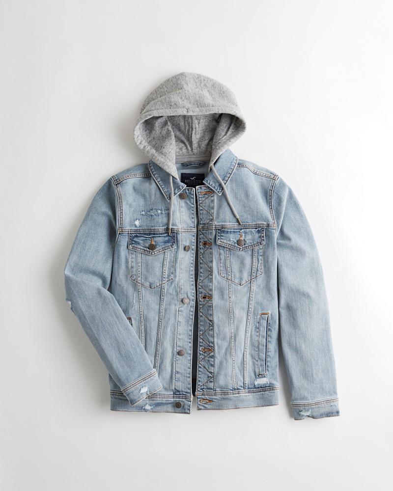 1e7d2c1183 Guys Hooded Denim Jacket