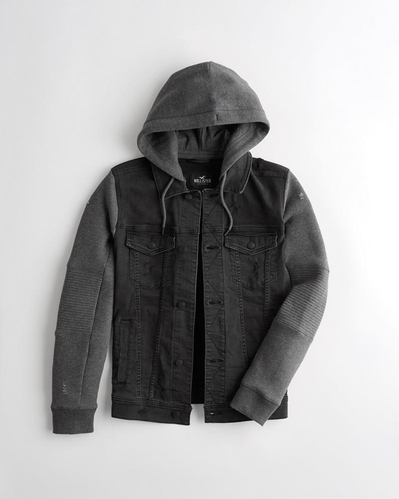 c7c0594f4104 Guys Hooded Denim Jacket