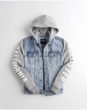 1d43c7ce4126 Logo Hooded Denim Jacket