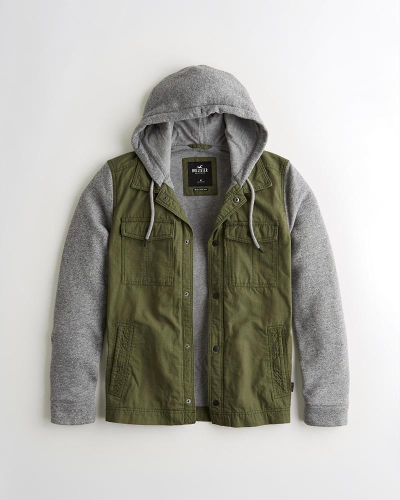 Guys Hooded Twill Shirt Jacket | Guys HCo Guys NWU