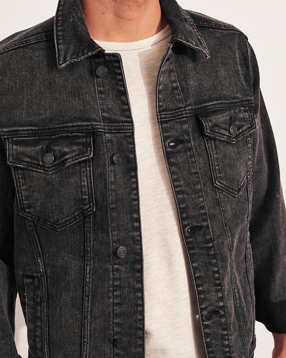 Lui Giacca di Jeans Elasticizzata   Lui Giacche & Cappotti