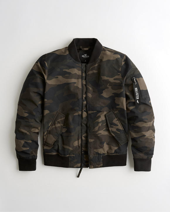 Camo Utility Bomber Jacket by Hollister