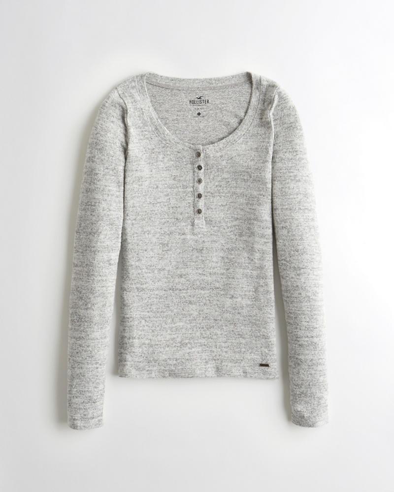 0d23d576c8 Girls Camiseta henley ceñida
