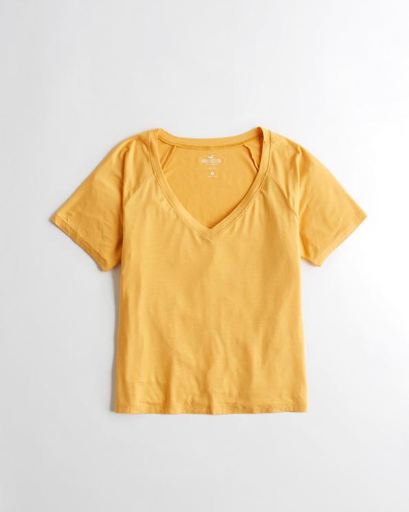 Girls Easy V-Neck T-Shirt   Girls Clearance   HollisterCo com