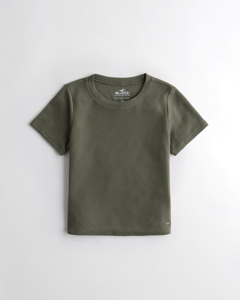 558d16b47 Girls Slim Waffle T-Shirt | Girls Tops | HollisterCo.com