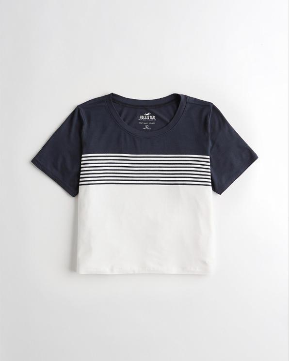 Girls Must-Have Crop Easy T-Shirt   Girls   HollisterCo com