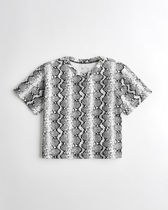 Snakeskin Boyfriend T Shirt by Hollister