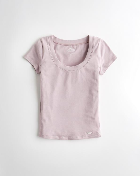 new concept e4d02 f8380 Mädels Schmales T-Shirt mit U-Ausschnitt   Mädels Angebote ...