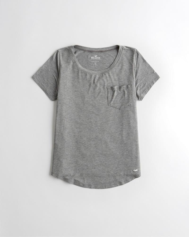 32a9cf39696072 Girls Easy Pocket T-Shirt | Girls Tops | HollisterCo.com