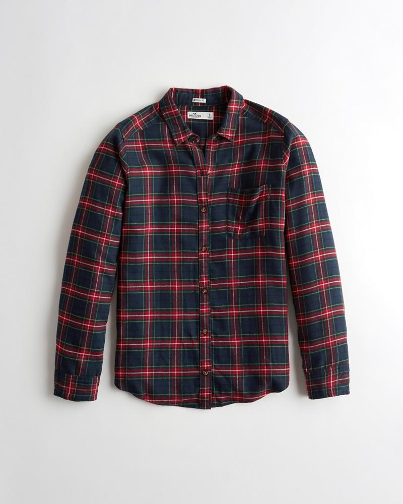 3d9b61419da Hollister Oversized Flannel Shirt