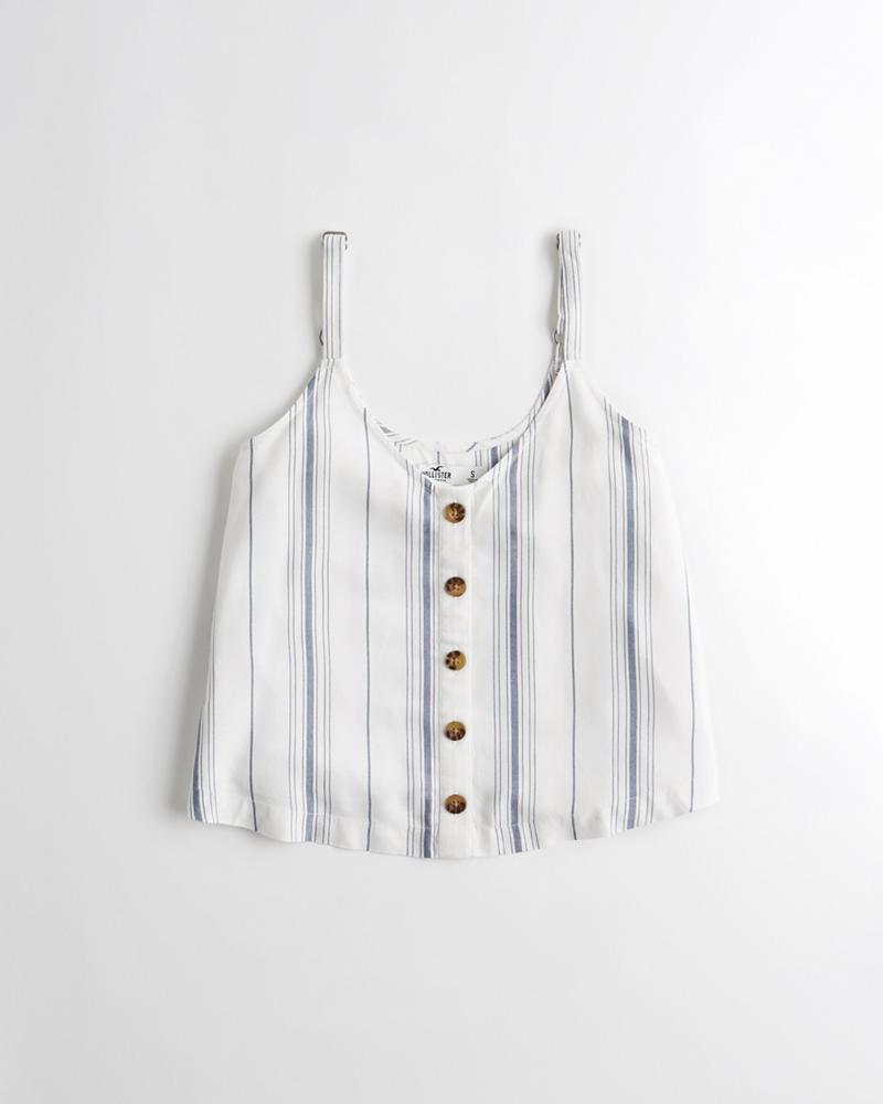 Chicas Camiseta sin mangas con botones en la parte delantera ... 3acddbe4ad141