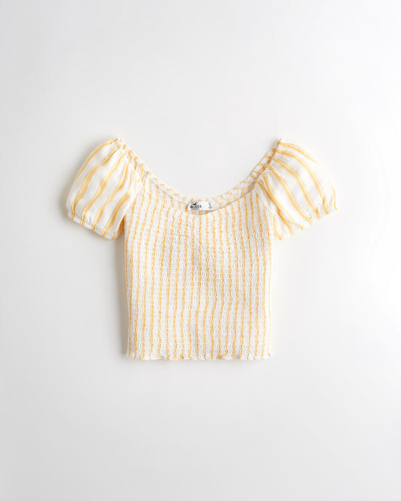 e3b2251dc11ae Girls On Or Off The Shoulder Crop Top | Girls Clearance ...
