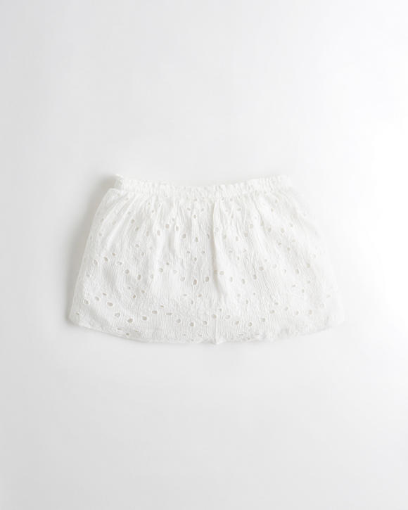 Eyelet Strapless Crop Top by Hollister