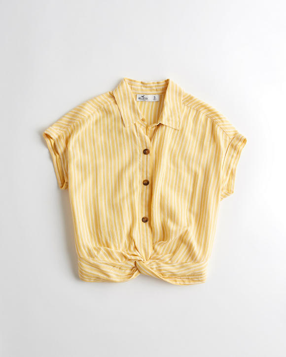 Twist Front Shirt by Hollister