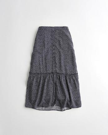 홀리스터 Hollister High-Rise Tiered Midi Skirt